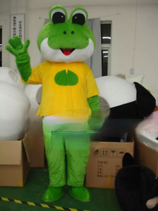 Frog Mascot Costume Animal Cosplay Fancy Dress Advertising Carnival Outfits Suit
