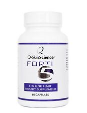 Quintessence Forti5 Hair Growth Supplement and Vitamins, 1 month supply, 60 caps