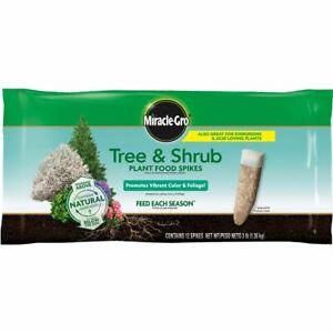 Miracle-Gro Tree & Shrub Plant Food Fertilizer 12 Spikes (3 Lb) Plant Garden Yar