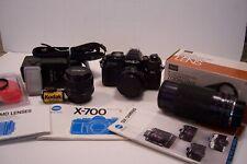 Minolta X-700 Camera Package - 50mm 80mm-200mm Zoom 28mm Lenses, Flash, Manuals