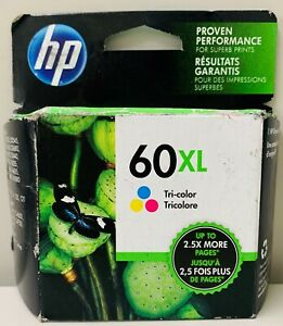 New Genuine HP 60XL Color Ink Cartridge Deskjet D1660 n Box EXP 2022