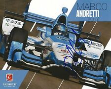 Marco Andretti signed 8x10 2017 Driver Card photo Irl Indy with Coa
