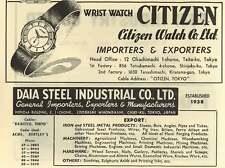 1953 Citizen Watch Company Import Export Tokyo Daia Steel  Ad