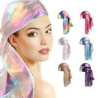 Premium Silky Womens Scarf Bonnet Cap Pirate Hat Head Cover Hijab Hair Wrap New