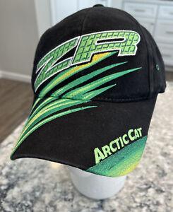 Arctic Cat ZR Team Arctic Racing Motorsports Hat Logo Black Green Yellow