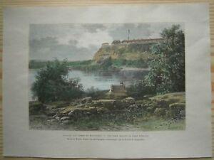 1892 Reclus print FORT SNELLING ON MISSISSIPPI, MINNESOTA (#29)