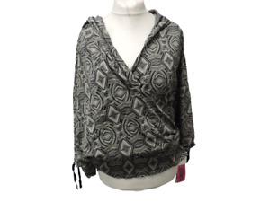 Zumba Women's Cropped Top Wrap Me Up Hoodie Grey Size XXL DH009 JJ 07