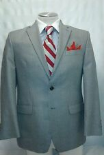 Mens CHAPS gray 2 button single vent suit sz 42R
