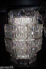 Vintage Mid-Century Lucite Plastic Chandelier Hanging Lamp-Retro 60's
