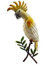 Cockatoo Bird on Tree Branch Metal Ornament Statue Figurine Sculpture *47 cm*
