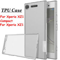 Ultra Thin Clear TPU Silicone Soft Case Cover For Sony Xperia XZ1 Compact/XZ1