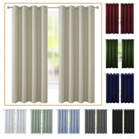 2 Panel Blackout Curtain Room Darkening Curtain Thermal Insulated Drapes Grommet