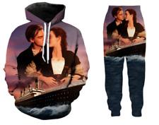 Women's/Men's movie Titanic 3D Print hoodies /pants sets Tracksuit suits S-5XL