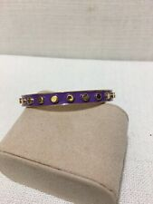TED BAKER - Gold Bracelet with Violet Enamel Inlay Bracelet