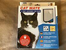 New listing New Cat Mate 4-Way Locking Cat / Small Dog Door Flap 7.625�W x 7.875�H White