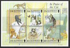 Alderney 1997 Alderney domestique CHATS feuillet non montés excellent état, MNH