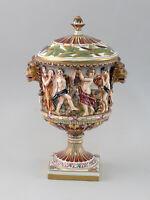 99840826 Pokal Capodimonte um 1900 Thüringen mythologische Szenen H30cm