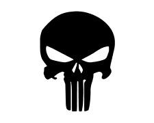 Punisher Sticker / Aufkleber / Tuning / JDM / Auto / Motorrad (Schwarz)