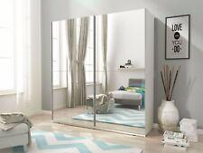 """NEW MODERN BEDROOM SLIDING DOOR WARDROBE """"MIKA III"""" 4ft11inch (150cm) BIG MIRROR"""