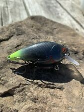 Custom Painted Lucky Craft RC 1.5 Black Chartreuse Shad Pattern Crankbait