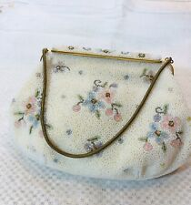 Vintage Hand Beaded In France Evening Purse Bag Exquisite, 8x5x1.5