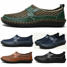 Summer Men Slip On Breathable Loafers Mesh Water Hiking Shoes Driving Boat Shoes