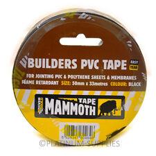 Everbuild constructeurs PVC TAPE Black mammouth 50mm x 33 mètres
