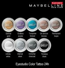 GEMEY MAYBELLINE COLOR TATTOO EYESTUDIO GEL OMBRE A PAUPIERES 50 ETERNAL SILVER