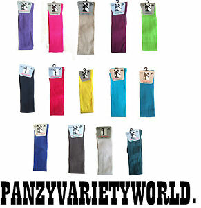 New OVER THE KNEE LONG SOCK COTTON LYCRA SIZE 4 - 6 1/2  MANY COLOURS