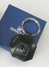 Swarovski Dragon Black Key Ring Calfskin Square Jet Hematite Crystal MIB 1114127