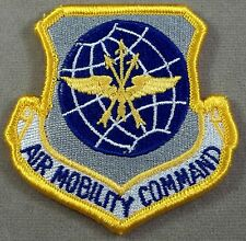 US Air Force Mobility Command Patch Full Color Merrowed Edge Hook Loop