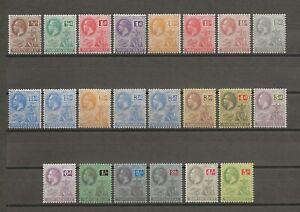 MONTSERRAT 1922-9 SG 63/83 MINT Cat £95