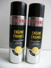 2 x Simoniz Motorcycle Silver Aluminium Engine & Case Paint Honda Yamaha Suzuki