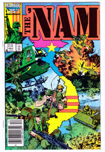 THE 'NAM #1 in VF/NM- condition a Marvel 1986 war comics 1st print