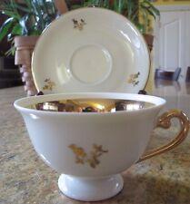 ALKA BAVARIA ROSEMARIE Vintage China Footed Tea/Coffee/Demitasse Cup & Saucer