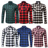 Fashion Men Dress Shirts Long Sleeves Luxury Casual Plaids & Checks Cotton S-2XL