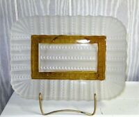 EAPG *** amber stained == Gonterman bread tray ...RARE