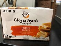 GREEN MOUNTAIN Gloria Jeans Butter Toffee Coffee 12 Ct Keurig K-cups Exp 4/2020