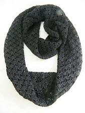 Ralph Lauren Women's Infinity Loop Scarf Metallic Black One Size NWOT