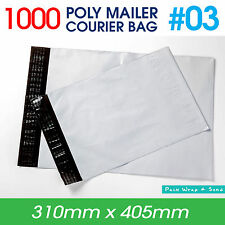 1000x Courier Bag #03 310x405mm - Poly Mailer Plastic Mailing Satchel
