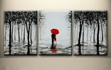 Painting Abstract Modern Decor black and white tree oil paintings  (No Frame)