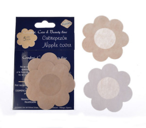 Nipple covers Modesty pads Bra Less Nude Flower, Round and Heart Shape UK