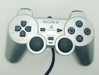Official Sony Playstation 2 PS2 DualShock 2 SCPH-10010 Silver Controller OEM