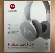 Motorola Pulse Escape Bluetooth Wireless Over-Ear Headphones White W/Mic Sh012Wh
