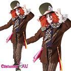 Alice In Wonderland Mad Hatter Mens Adult Fancy Dress Halloween Costume Rubie's