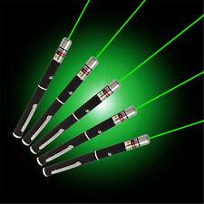 5pcs Powerful Green Laser Pointer Pen Beam Light 5mW Lazer 532nm From USA