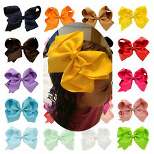 20 x 6 inch Boutique Hair Accessory Knot  Hair Bow Alligator Clip Girl