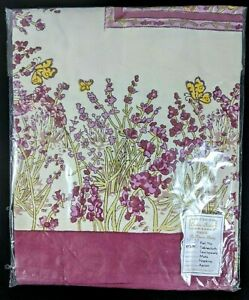"""New! COULEUR NATURE BRUNO LAMY TABLECLOTH 59"""" x 86"""" Butterflies Flowers"""