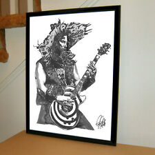 Zakk Wylde Ozzy Guitar Hard Rock Music Poster Print Art 18x24