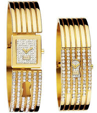 NEW Authentic Dolce&Gabbana Crystal Face Bangle Women's Watch D&G Spy Me DW0254